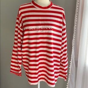 RARE! Guess by Georges Marciano stripped shirt 90s